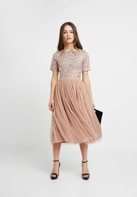Lace & Beads Petite - VAL SKIRT - A-Linien-Rock - mink - 1