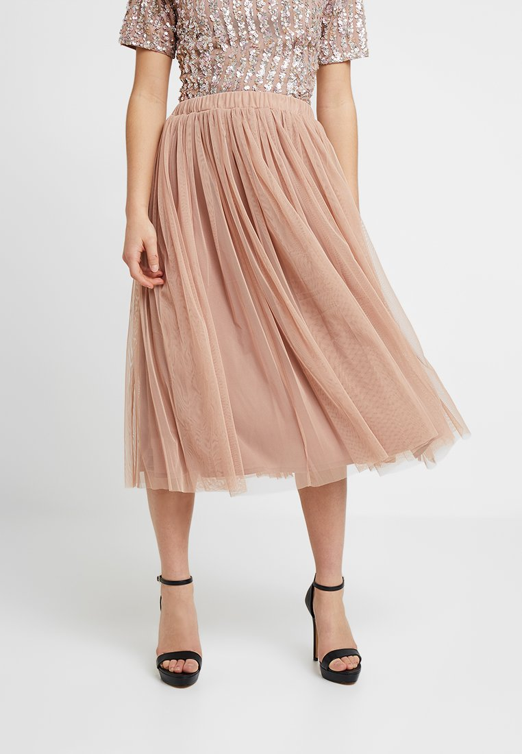 Lace & Beads Petite - VAL SKIRT - A-Linien-Rock - mink