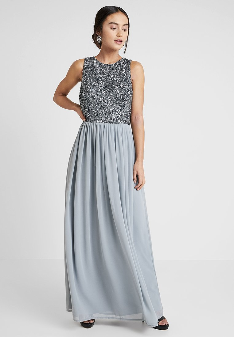 Lace & Beads Petite - PICASSO MAXI - Occasion wear - slate blue