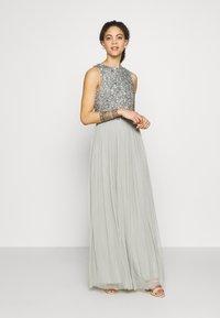 Lace & Beads Petite - PICASSO - Společenské šaty - sage - 1