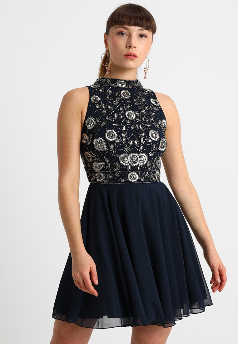 Lace & Beads Petite - BALLEY SKATER - Cocktailkjole - navy