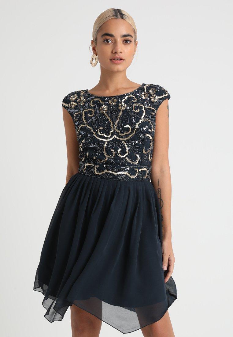 Lace & Beads Petite - GRACE SKATER - Vestito elegante - navy