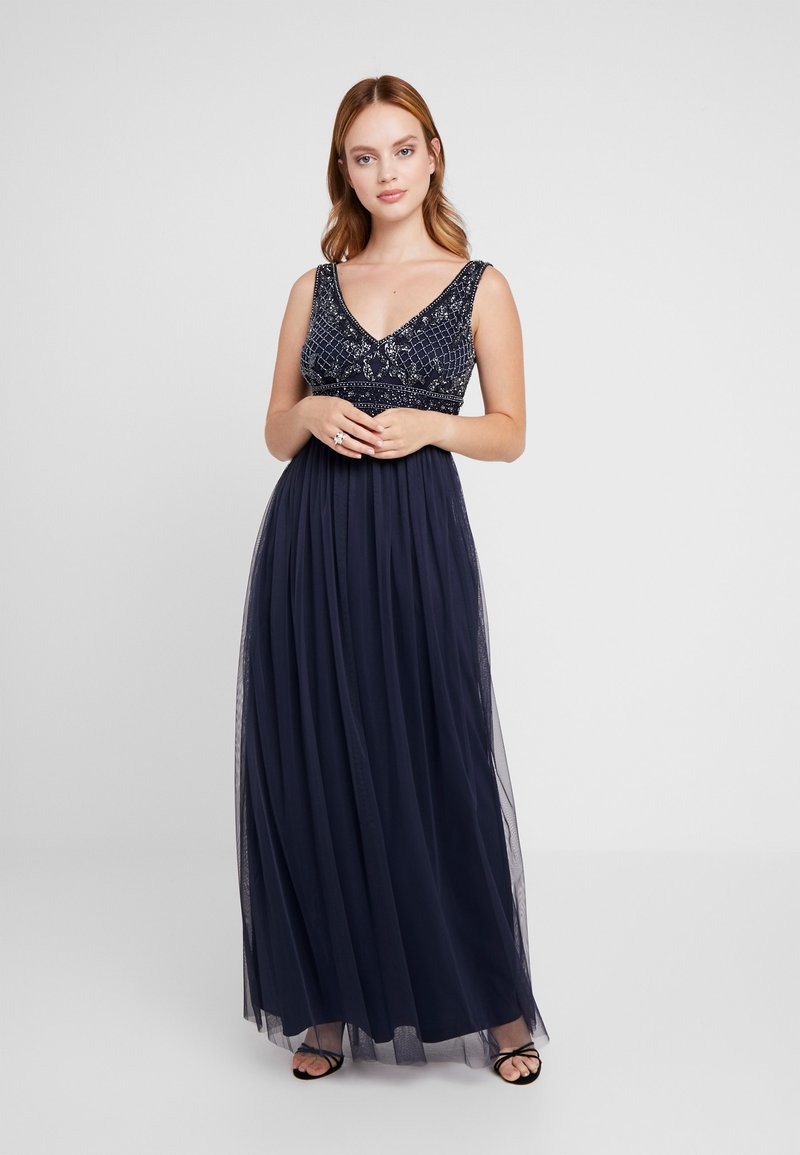 Lace & Beads Petite - KRESHMA MAXI - Occasion wear - navy