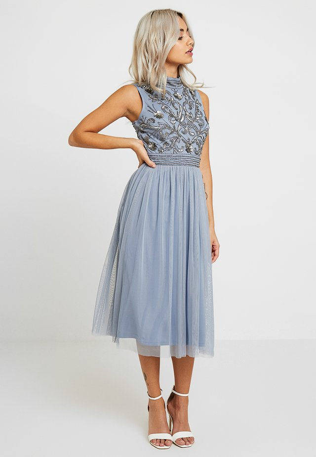 KUSHI MIDI - Cocktail dress / Party dress - blue
