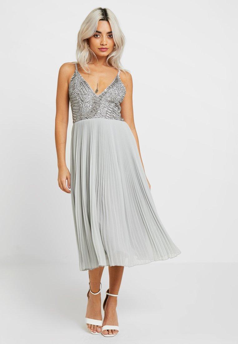 Lace & Beads Petite - SAMANTHA MIDI - Cocktailkleid/festliches Kleid - grey