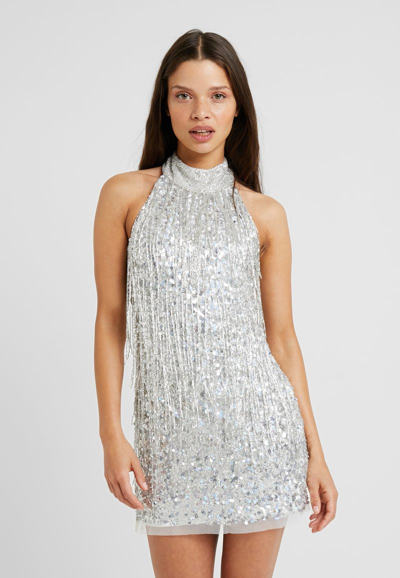 Lace & Beads Petite - NADIA DRESS - Cocktailjurk - silver