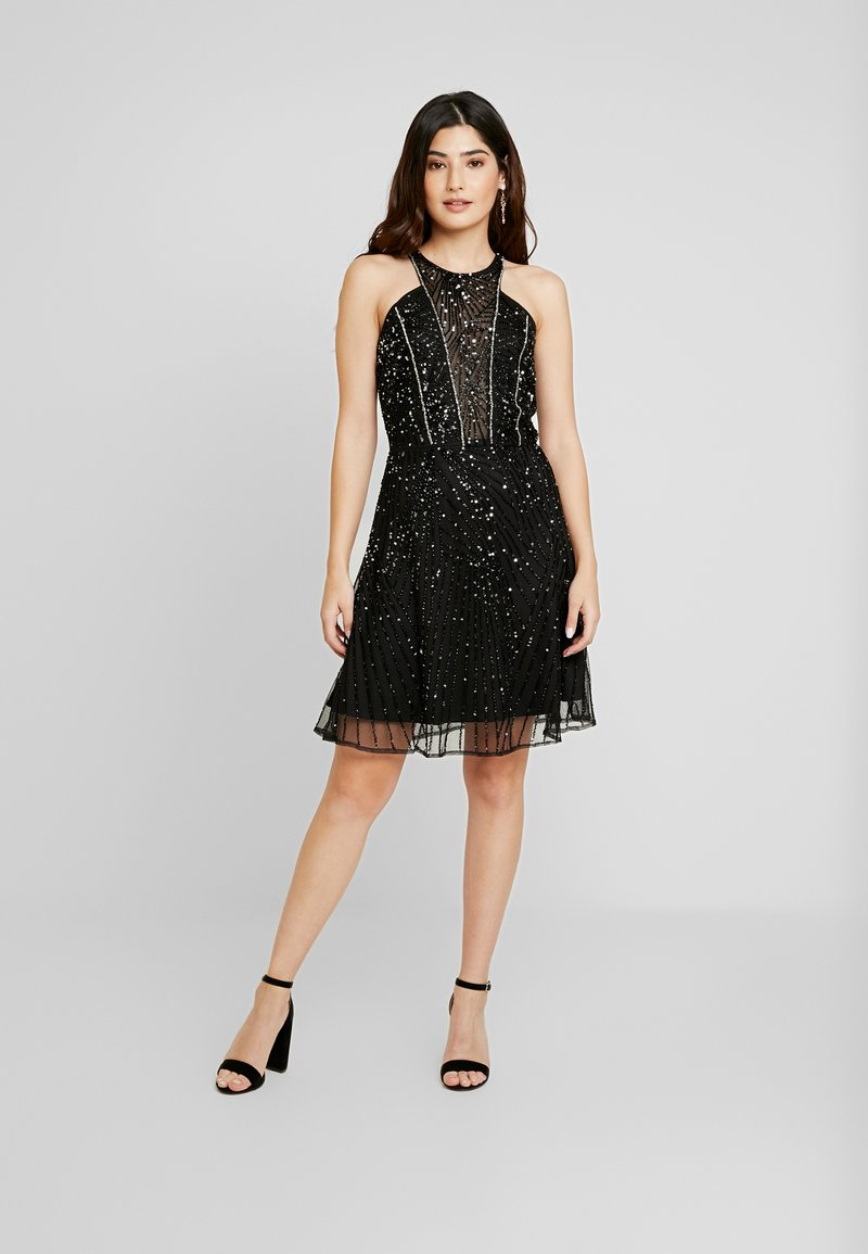 Lace & Beads Petite - RALEIGH SKATER - Cocktailkjole - black