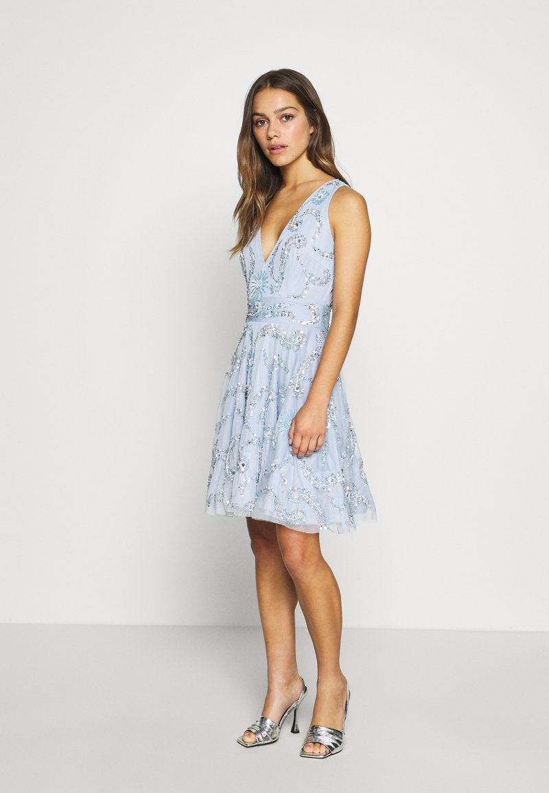 Lace & Beads Petite - AMARIS DRESS - Cocktail dress / Party dress - light blue