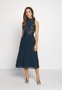 Lace & Beads Petite - ANETE DRESS - Juhlamekko - navy - 0