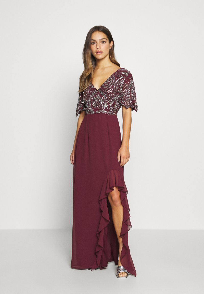 Lace & Beads Petite - JANI  - Suknia balowa - burgundy