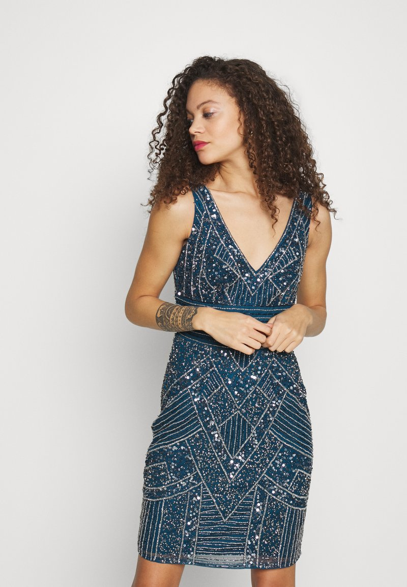 Lace & Beads Petite - SELINA DRESS - Cocktail dress / Party dress - teal