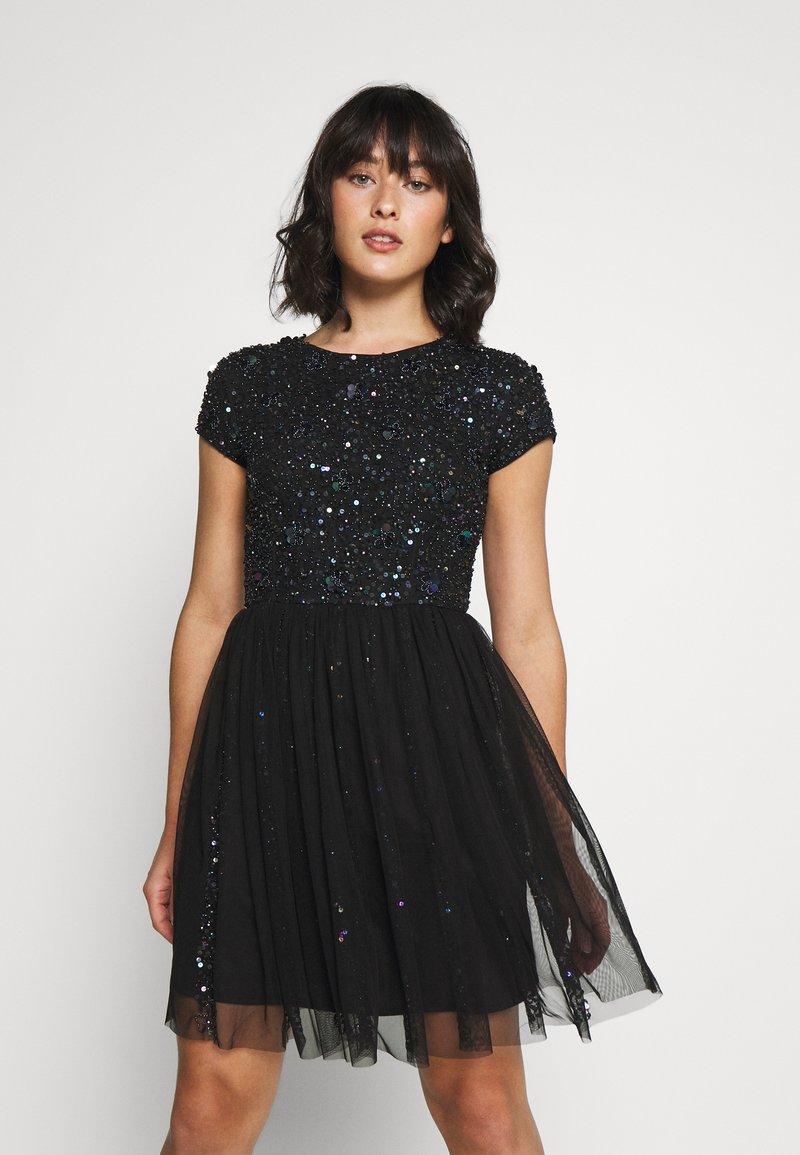Lace & Beads Petite - NESSIA - Juhlamekko - black iridescent
