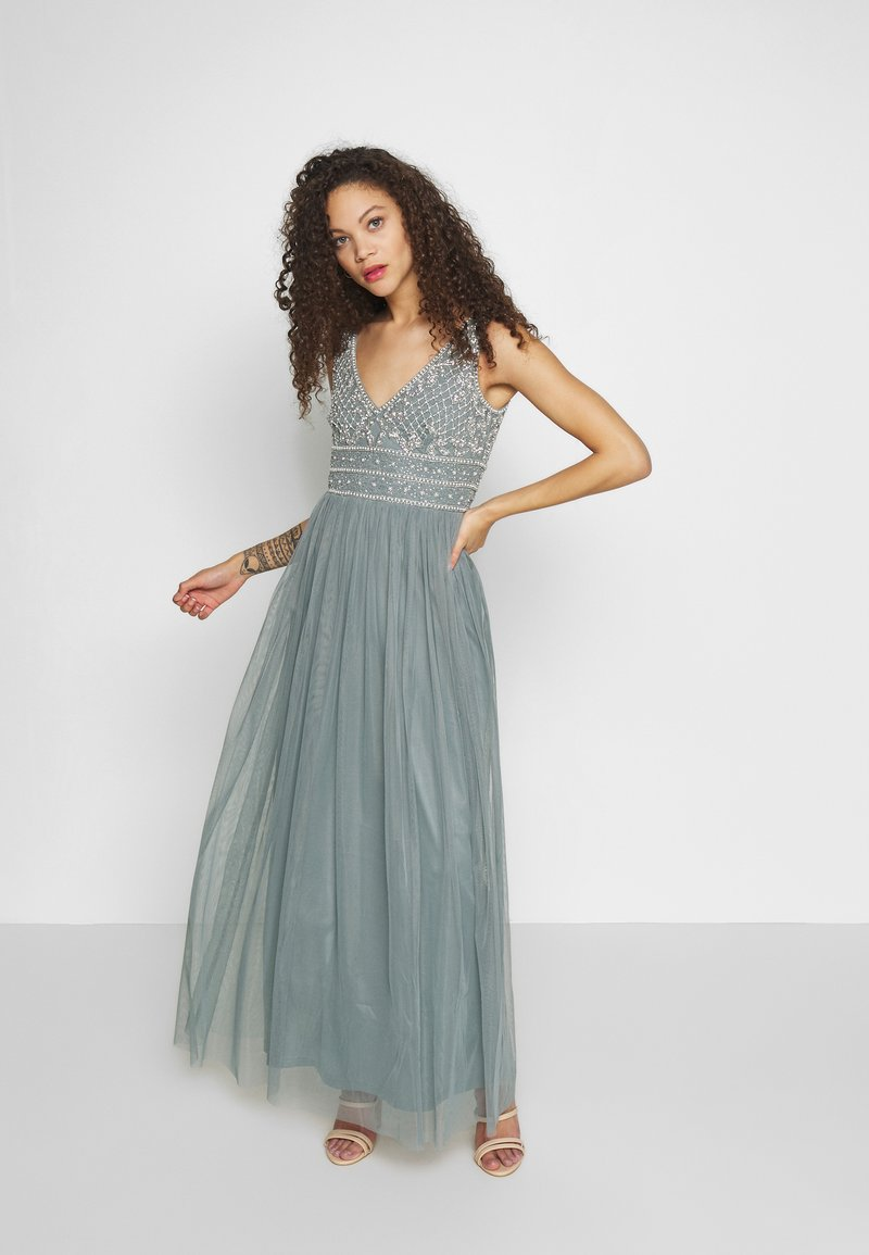 Lace & Beads Petite - KRESHMA MAXI - Occasion wear - teal
