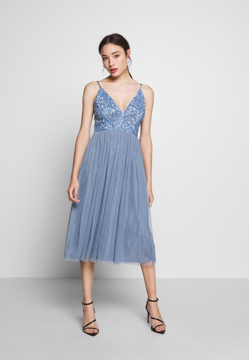 Lace & Beads Petite - IRINA MIDI - Juhlamekko - dusty blue