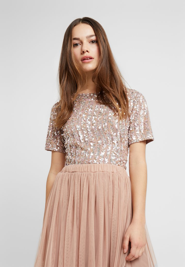 Lace & Beads Petite - LETTY - Bluse - mink