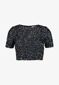 Lace & Beads Petite - PRIYA LETTY TOP - Blůza - black iridescent - 4