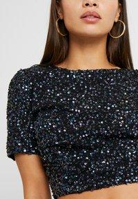 Lace & Beads Petite - PRIYA LETTY TOP - Blůza - black iridescent - 5