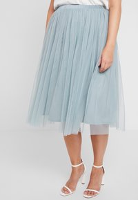 Lace & Beads Curvy - VAL SKIRT - A-lijn rok - teal - 0