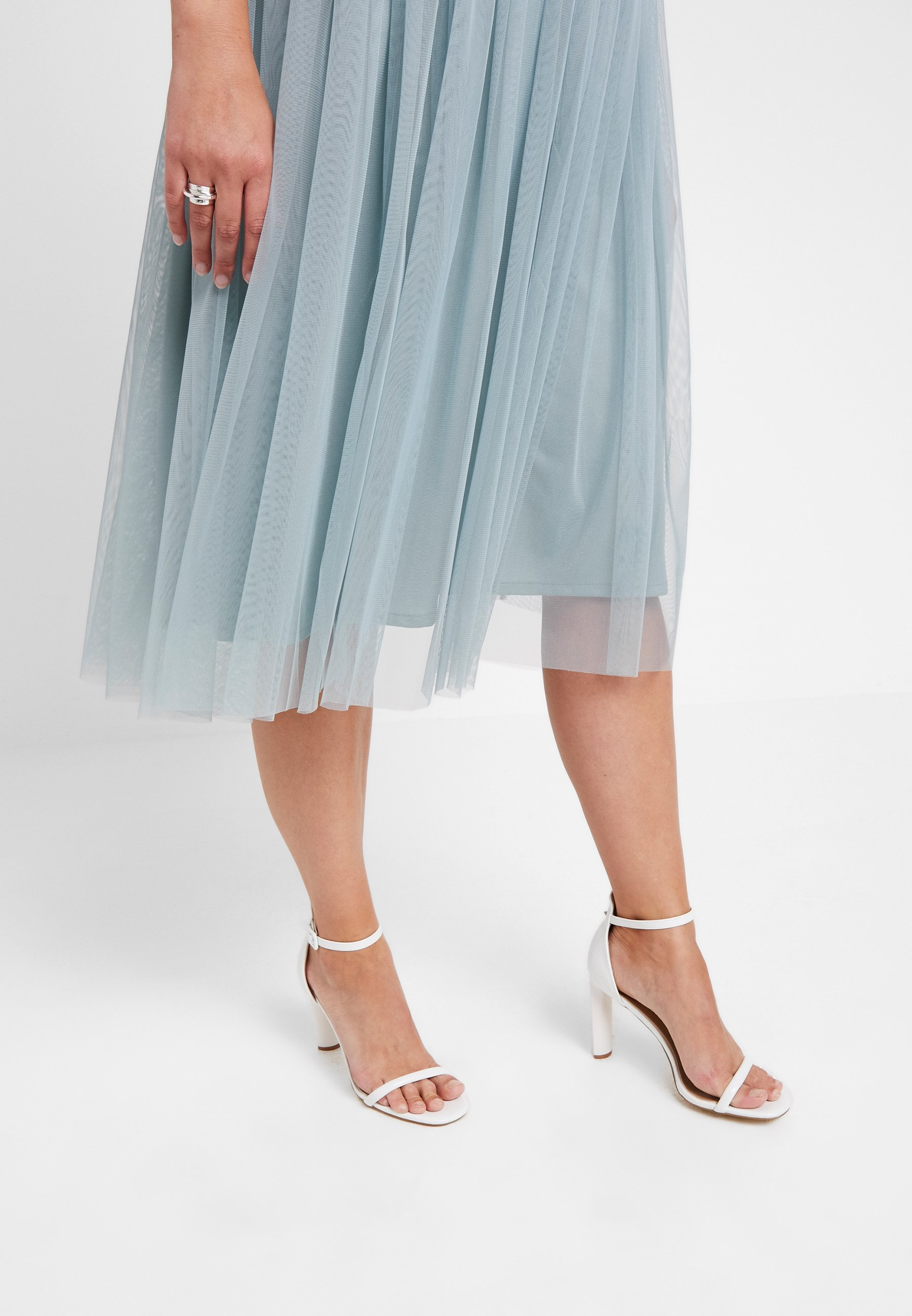 Lace & Beads Curvy VAL SKIRT - Gonna a campana teal