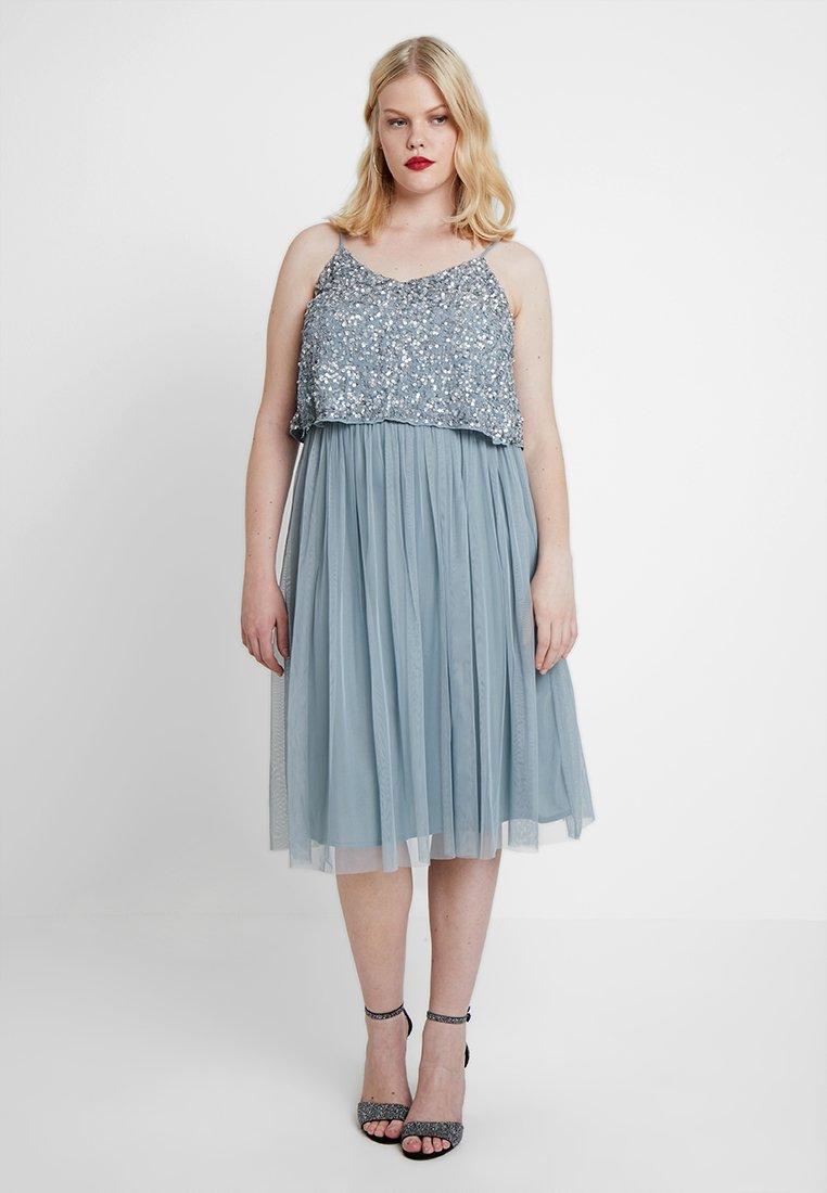 Lace & Beads Curvy - EXCLUSIVE ALVI DRESS - Cocktail dress / Party dress - new grey