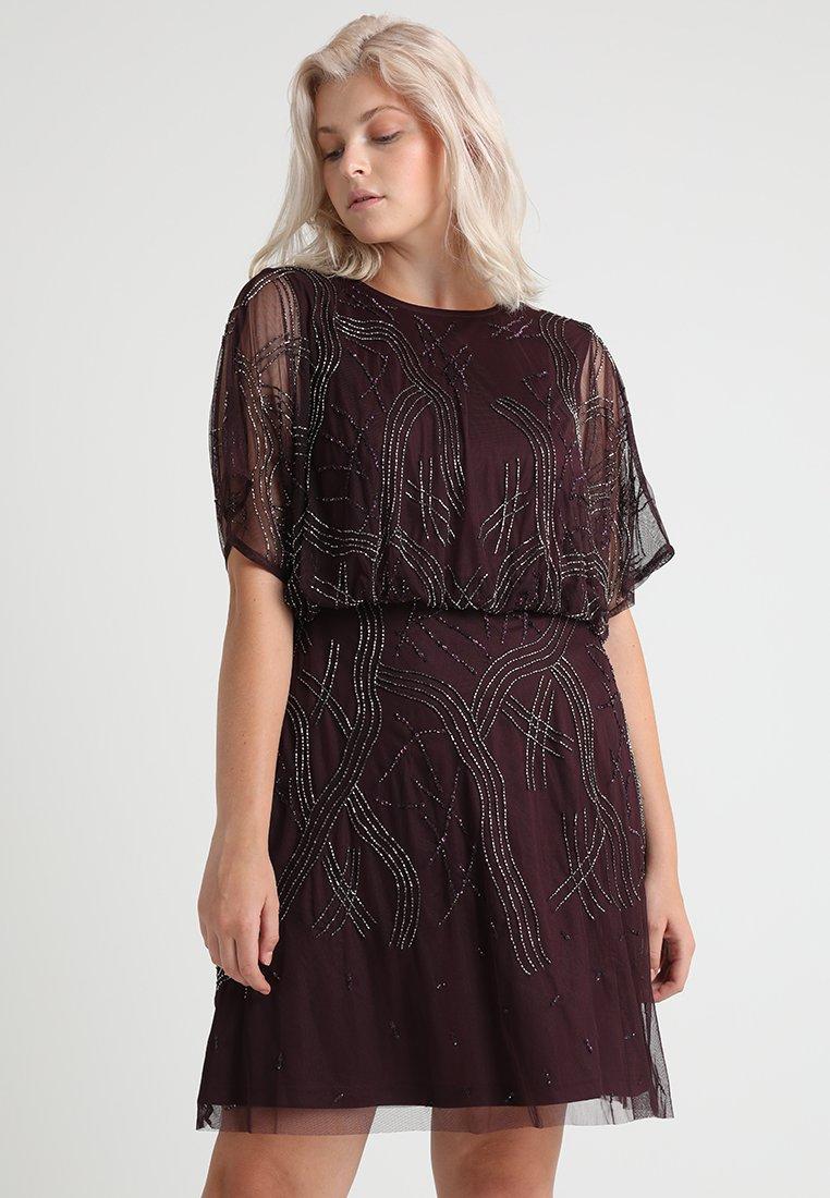 Lace & Beads Curvy - KIARA KNEE LENGTH - Cocktailklänning - bordeaux