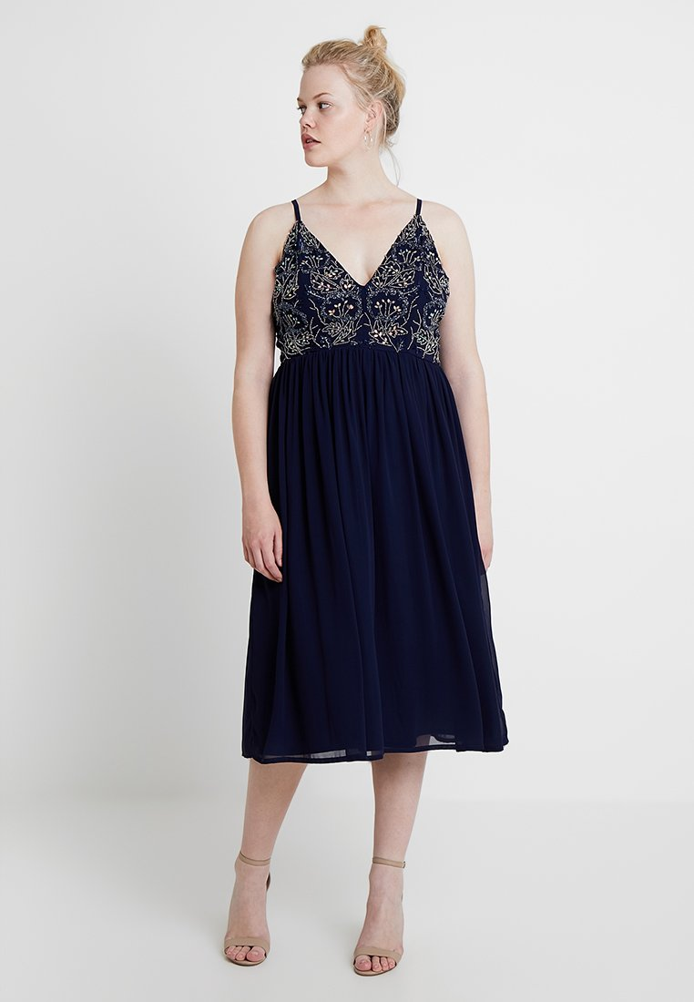 Lace & Beads Curvy - EXCLUSIVE JAKEY DRESS - Robe d'été - navy as sample