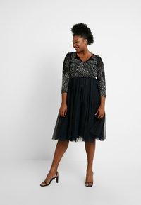 Lace & Beads Curvy - BONITA MIDI - Společenské šaty - black - 2