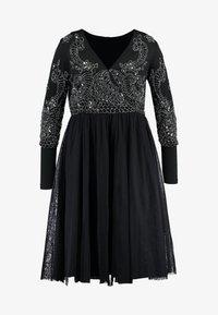 Lace & Beads Curvy - BONITA MIDI - Společenské šaty - black - 5