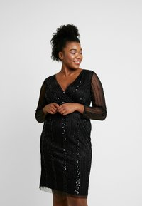 Lace & Beads Curvy - EXCLUSIVE MAJIC DRESS - Vestito elegante - black - 0