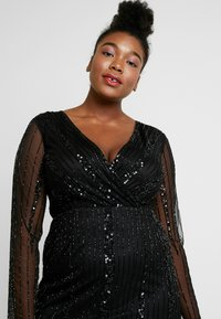 Lace & Beads Curvy - EXCLUSIVE MAJIC DRESS - Vestito elegante - black - 4