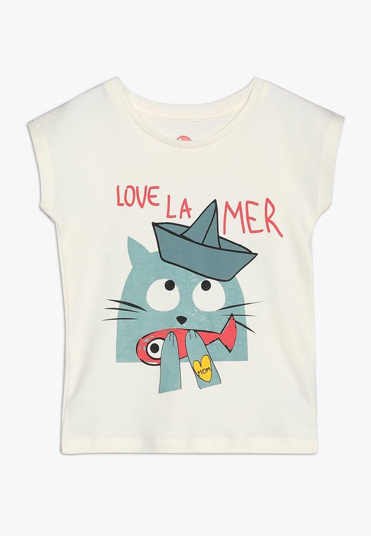 La Queue du Chat - GIRL - Print T-shirt - cloud cream
