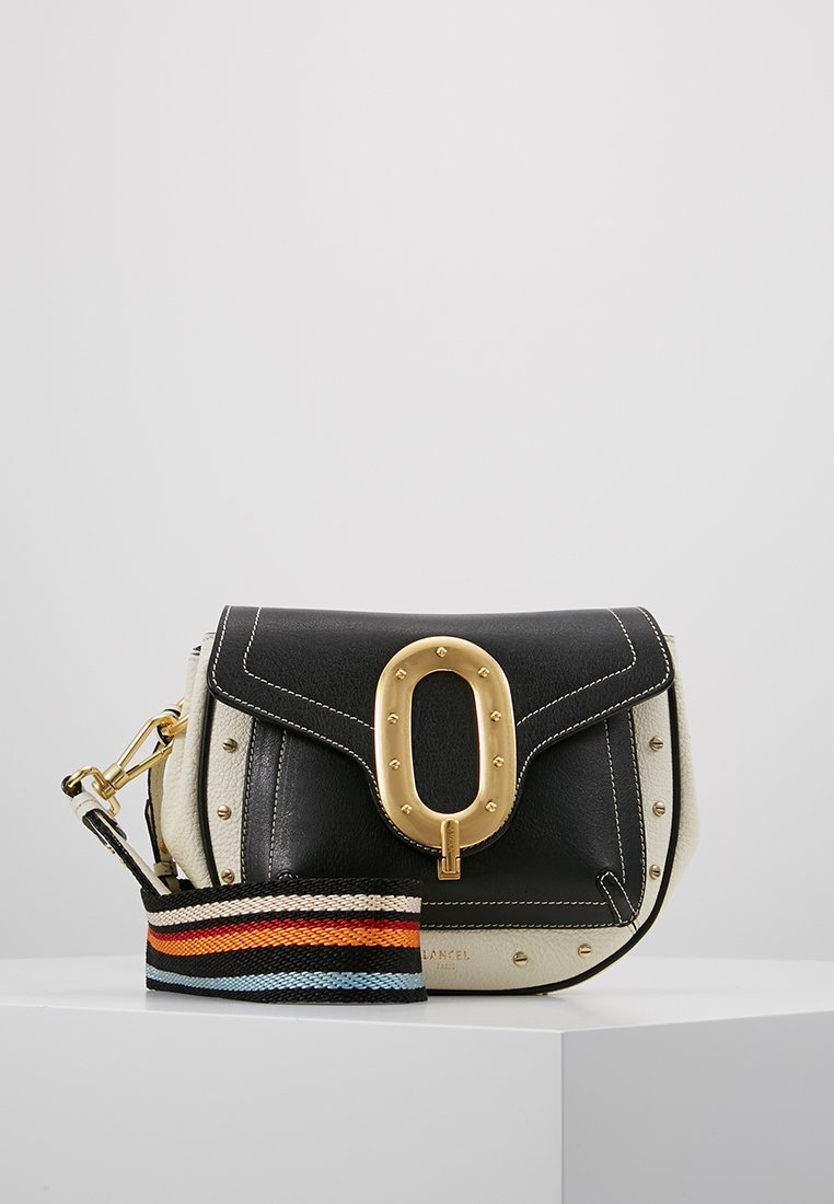 Lancel - LOU DE SADDLE BAG - Schoudertas - black/snow