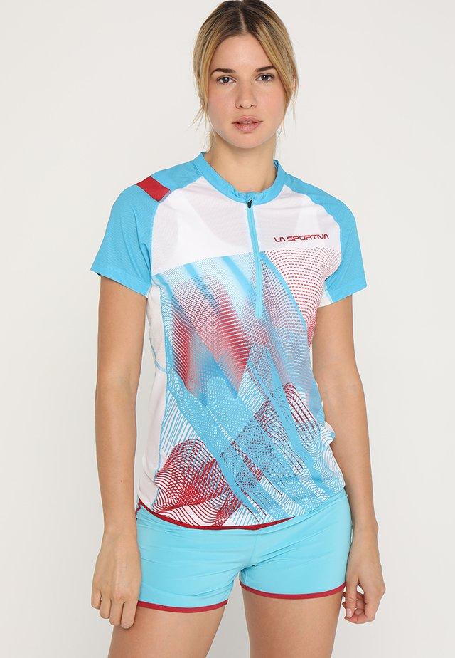 VELOCE  - T-shirt print - malibu blue/white