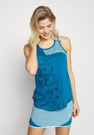 CHEMISTRY TANK - Sports shirt - neptune/pacific blue