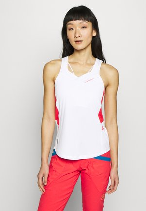 JOY TANK - Sports shirt - white/hibiscus