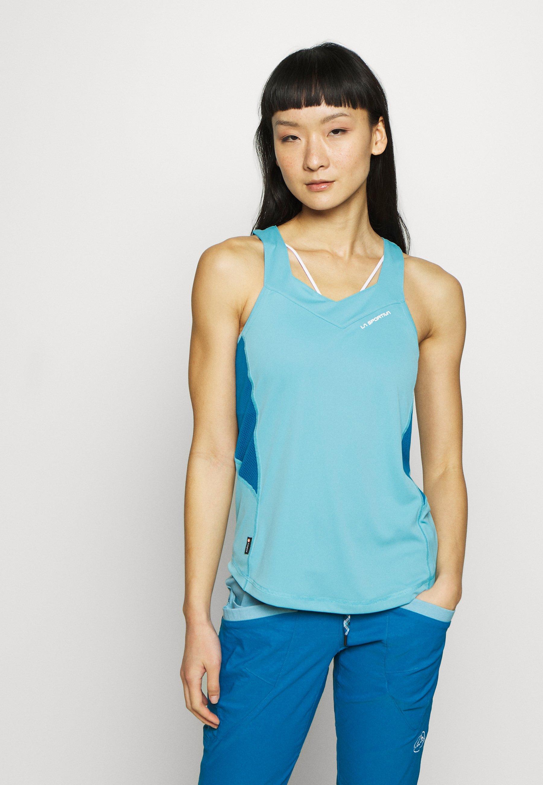 La Sportiva JOY TANK - Treningsskjorter - pacific blue/neptune