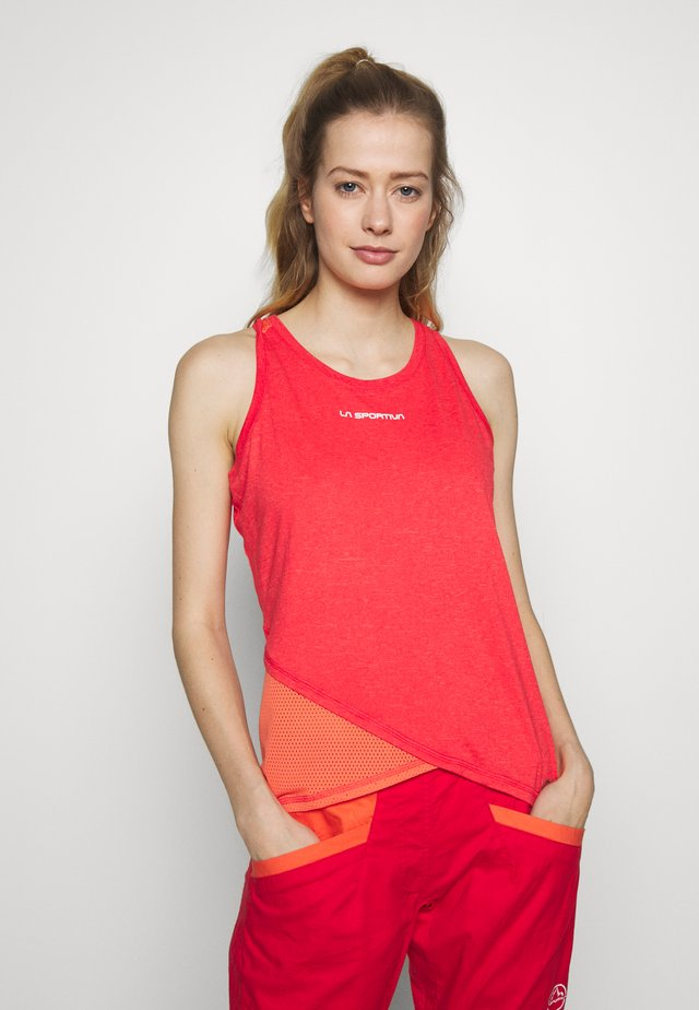 LOOK TANK - Top - hibiscus/flamingo