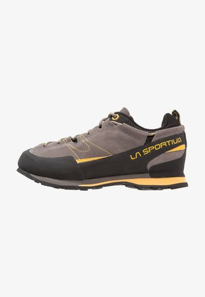 BOULDER X - Chaussures de marche - grey/yellow