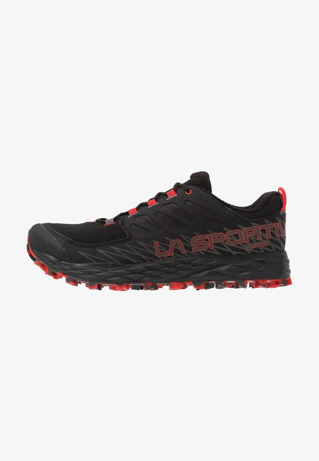LYCAN GTX - Scarpe da trail running - black/poppy