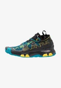 La Sportiva - UNIKA - Chaussures de running - carbon/tropic blue - 0