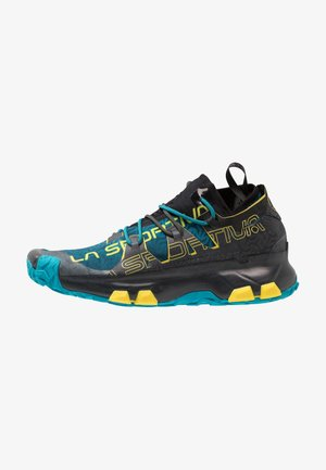UNIKA - Trail running shoes - carbon/tropic blue