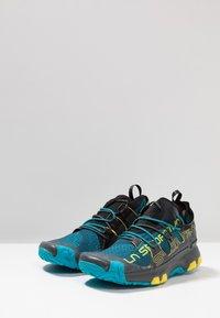 La Sportiva - UNIKA - Chaussures de running - carbon/tropic blue - 2
