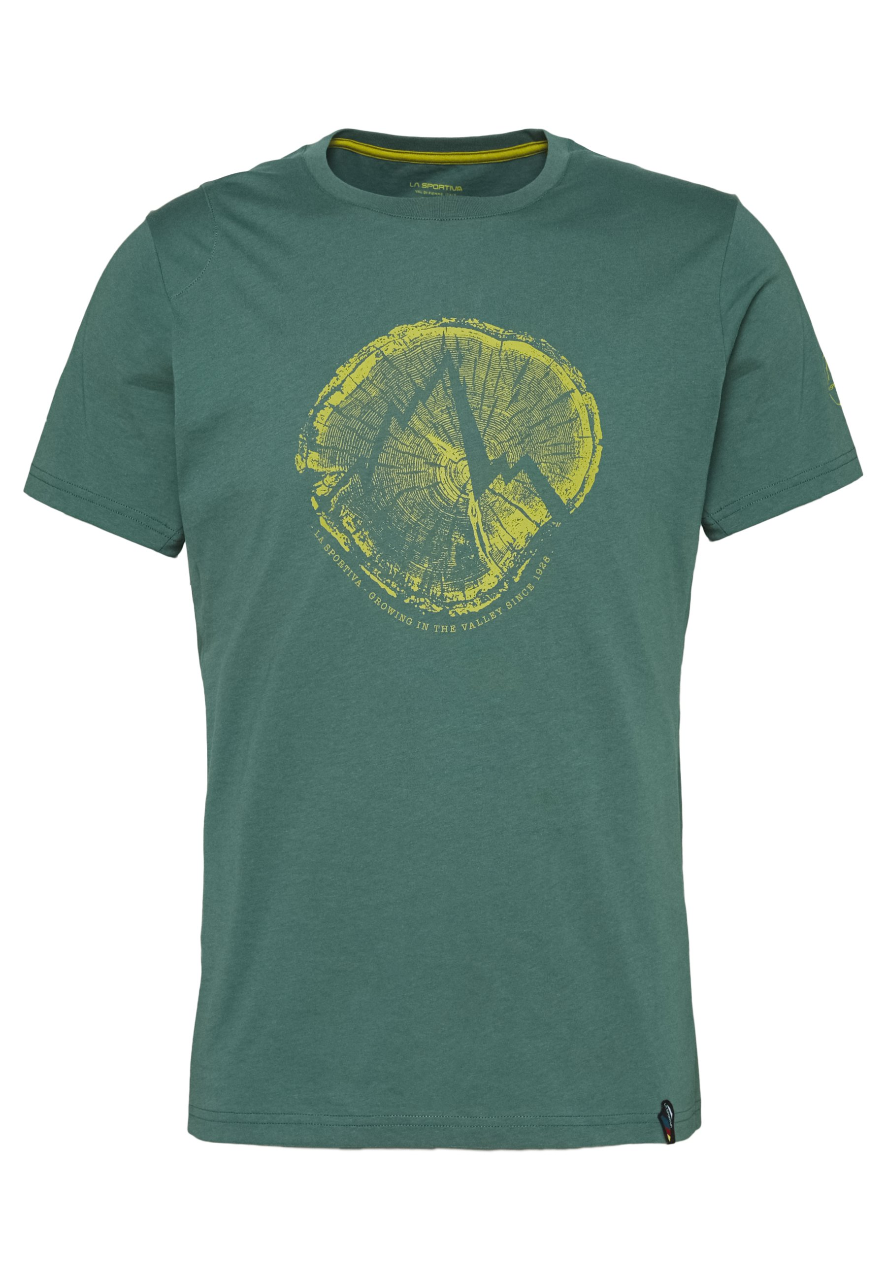 La Sportiva CROSS SECTION - T-shirt z nadrukiem - pine
