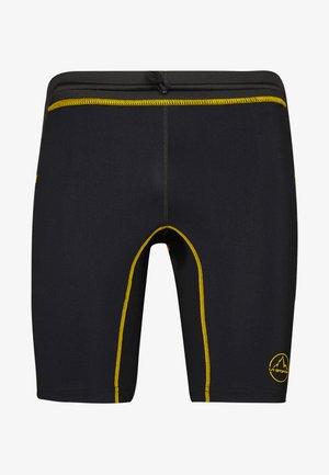 FREEDOM TIGHT SHORT - Legginsy - black/yellow