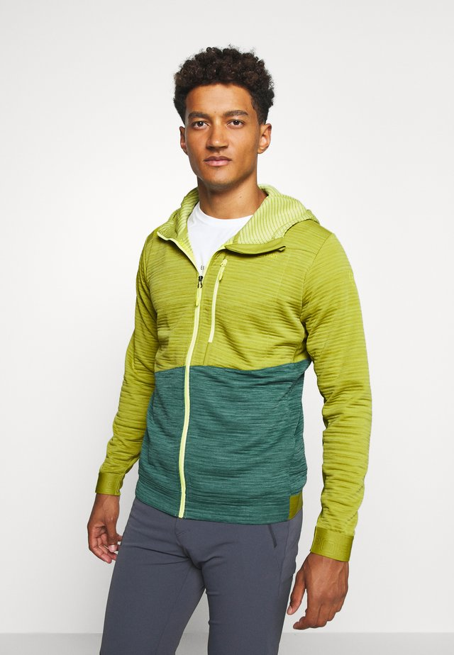 TRAINING DAY HOODY - Felpa aperta - kiwi/pine