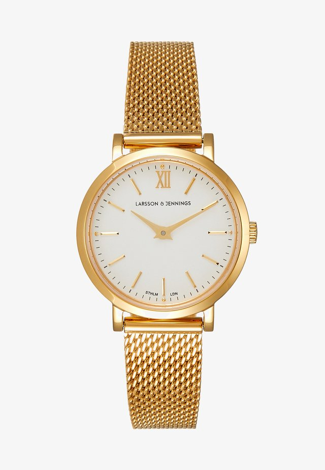 Watch - gold-coloured/white