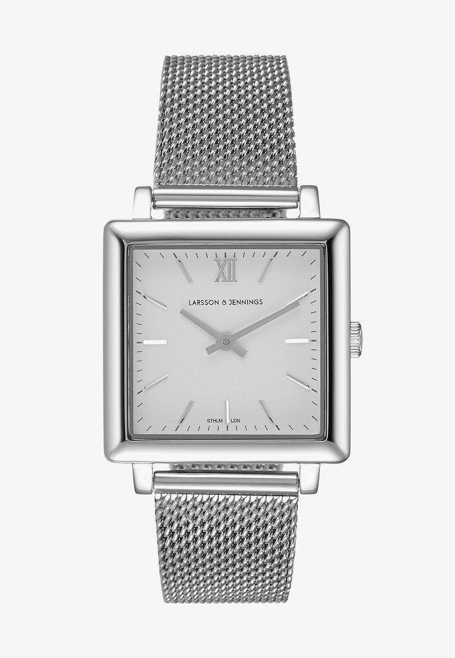 Klocka - silver/white