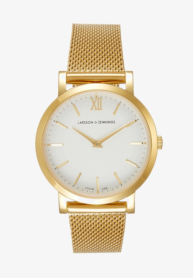 LUGANO - Watch - gold-coloured/white