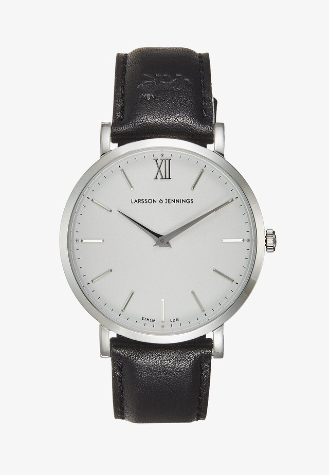 Horloge - black/silver-coloured/white
