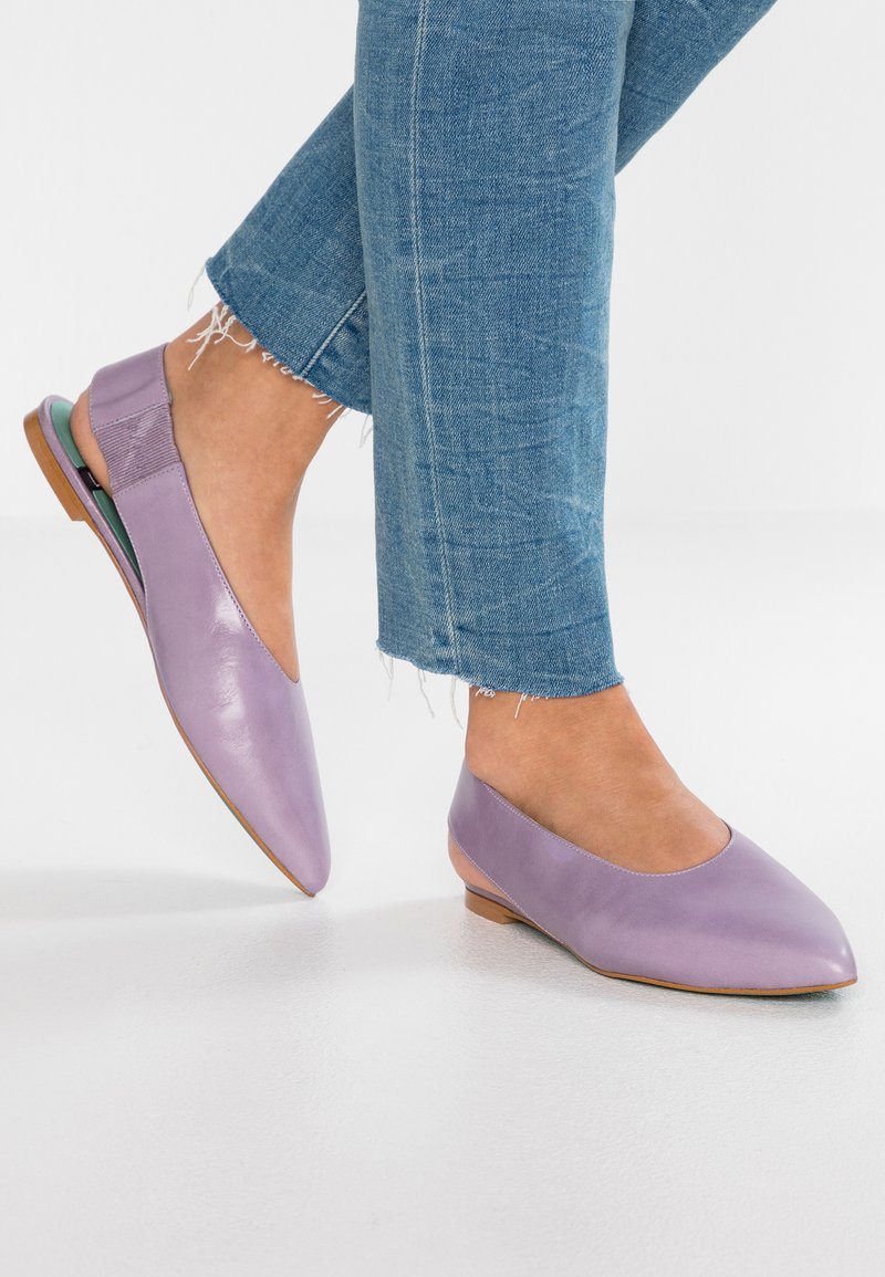 LAB - Ankle strap ballet pumps - glicine
